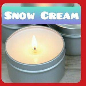 Snow Cream Candle
